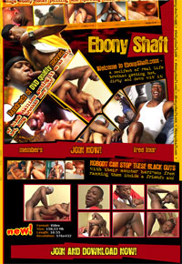 EbonyShaft.com - hundreds of DVD quality movies of black stallions getting it on as onlyhot, hung brothers know how!