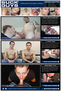 SuckOffGuys.com features brand new and exclusive video and photo sets of amateur men
